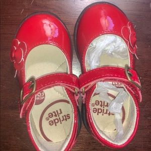 Brand New Stride Rite Red Shoes 4.5